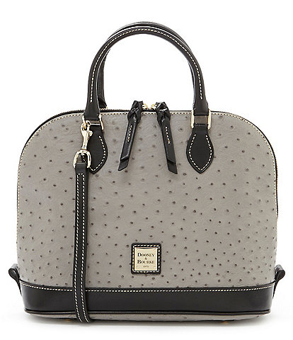 Dooney & Bourke Ostrich Collection Zip Dome Colorblock Satchel