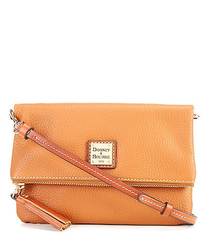 Dooney & Bourke Pebble Collection Fold-Over Tasseled Colorblock Crossbody