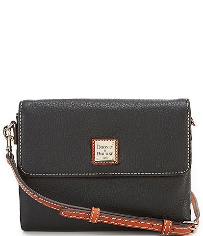 Dooney & Bourke Pebble Collection Hunter Flap Crossbody Bag
