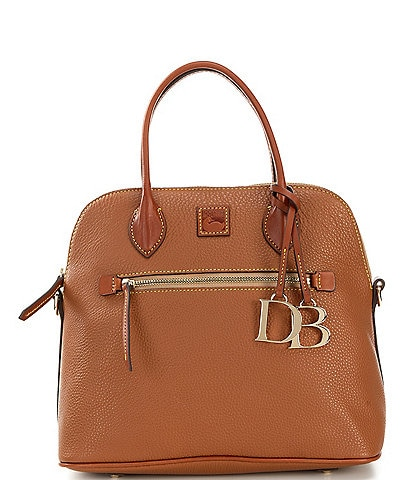 Dooney & Bourke Pebble Collection Large Domed Satchel Bag