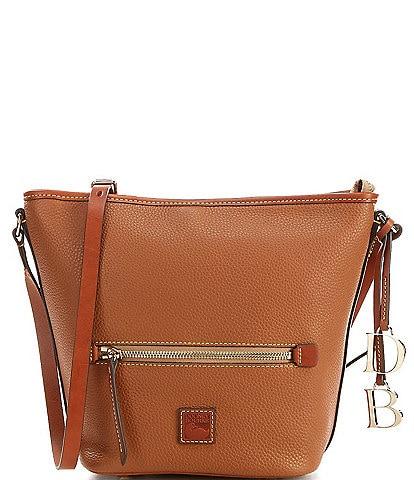 Dooney & Bourke Pebble Collection Large Top Zip Crossbody Tote Bag