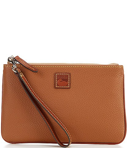 Dooney & Bourke Pebble Collection Large Leather Zippered Wristlet