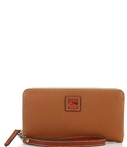 Dooney & Bourke Pebble Collection Large Zip Around Wristlet
