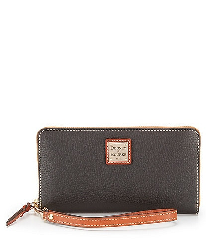 Dooney & Bourke Pebble Collection Large Zip Around Wallet