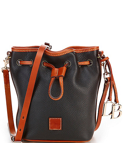 Dooney & Bourke Pebble Collection Small Drawstring Bucket Bag