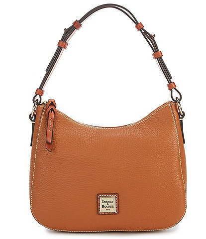 Dooney & Bourke Pebble Collection Small Kiley Leather Zip Top Hobo Bag