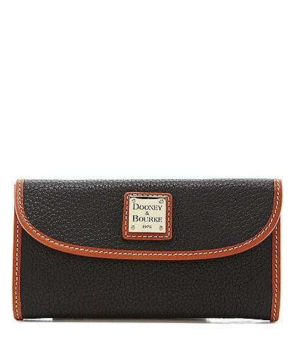 Dooney & Bourke Pebble Continental Clutch Colorblock Wallet