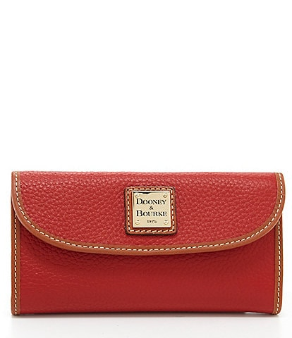 Dooney & Bourke Pebble Continental Leather Clutch Colorblock Wallet