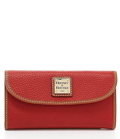 Dooney & Bourke Pebble Continental Clutch Colorblock Wallet