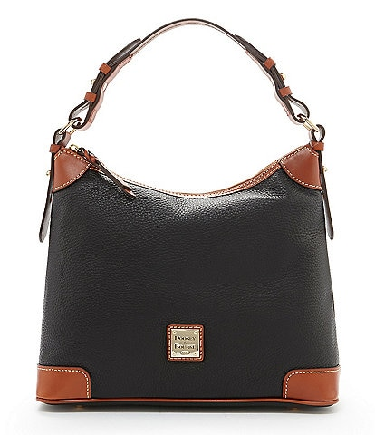 Dooney & Bourke Pebble Leather Hobo Colorblock Bag