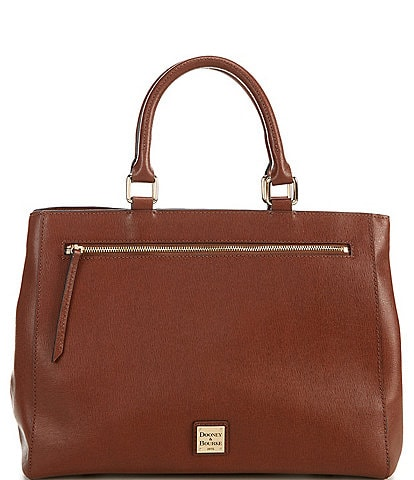 Dooney & Bourke Saffiano Collection Leather Satchel Magnetic Snap Bag