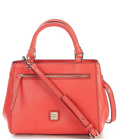 Dooney & Bourke Saffiano Collection Small Zip Leather Satchel Bag