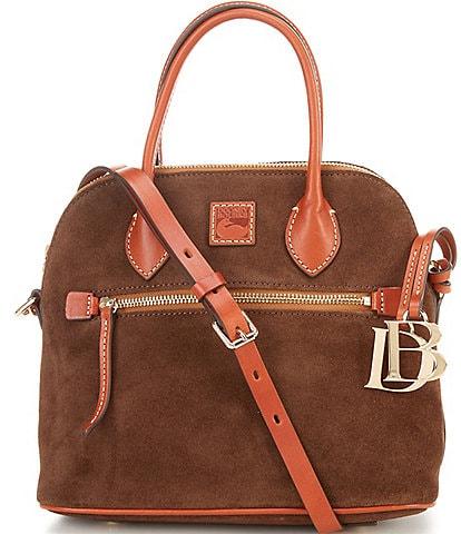 Dooney & Bourke Suede Collection Domed Satchel Bag