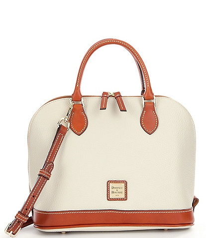 Dooney & Bourke Pebble Collection Zip Zip Dome Satchel Bag