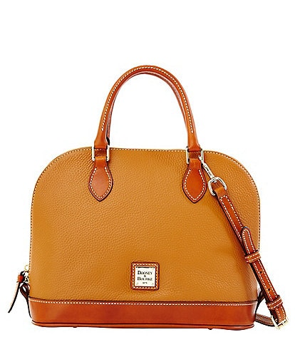 Dooney & Bourke Pebble Collection Zip Zip Dome Satchel
