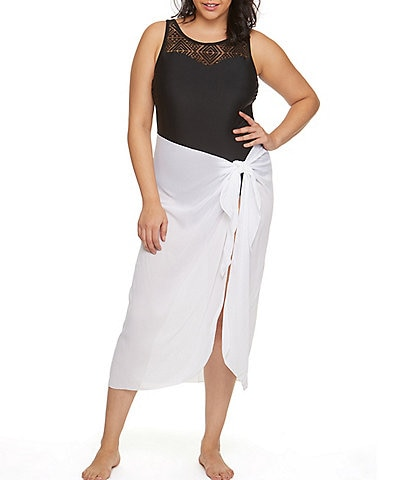 Dotti Plus Size Summer Sarong Long Pareo Swim Cover Up