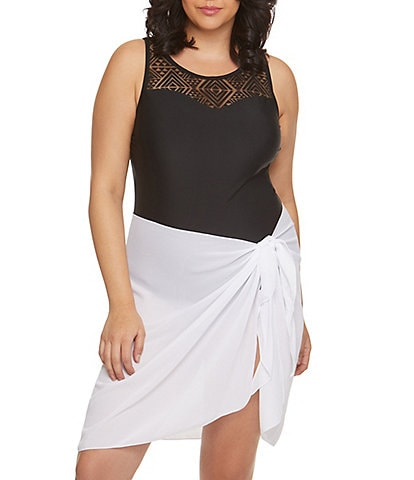 Dotti Plus Summer Sarong Semi Sheer Short Pareo Cover Up