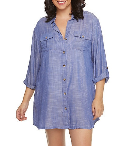 Dotti Plus Travel Muse Shirtdress Cover Up