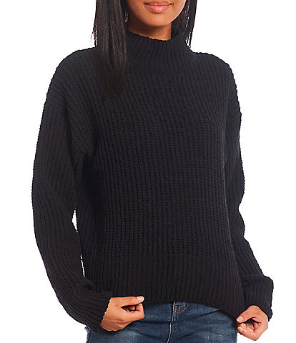 Double Zero Chenille Mock Neck Sweater