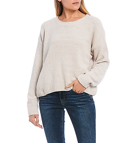 Double Zero Long Sleeve Chenille Sweater