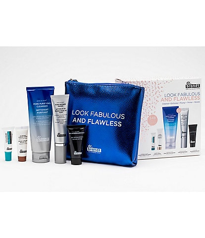 Dr. Brandt Look Fabulous and Flawless Kit - Cleanse, Exfoliate, Plump, Prime, and Renew