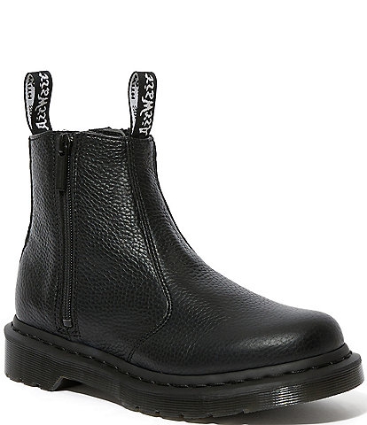 Dr. Martens Women's 2976 Zip Aunt Sally Leather Lug Sole Chelsea Boots