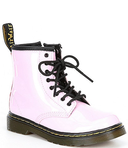 Dr. Martens Girl's 1460 Lace-Up Patent Leather Combat Boots (Toddler)