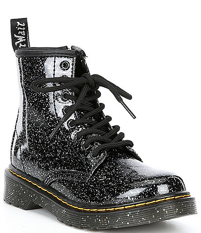 Dr. Martens Girl's 1460 Side-Zip Glitter Boots (Toddler)