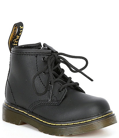 Dr. Martens Kids 1460 Softy T Leather Lace-Up Combat Boots (Infant)