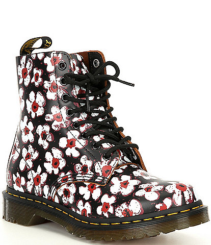 Dr. Martens Women's 1460 Pascal Pansy Fayre Combat Boots