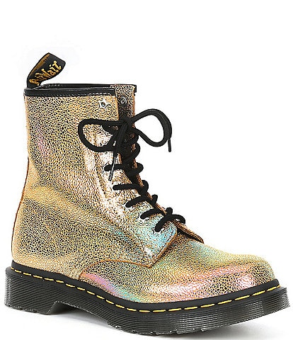 Dr. Martens Women's 1460 Rainbow Ray Metallic Lace-Up Combat Boots
