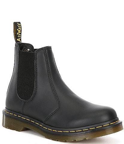 Dr. Martens Women's 2976 Nappa Leather Block Heel Lug Sole Chelsea Booties