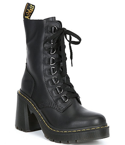 Dr. Martens Women's Chesney Lace-Up Heeled Combat Booties