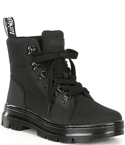 Dr. Martens Women's Combs Leather & Nylon Combat Boots