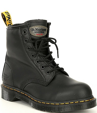 Dr. Martens Women's Maple Zip Newark Steel Toe Combat Work Boots
