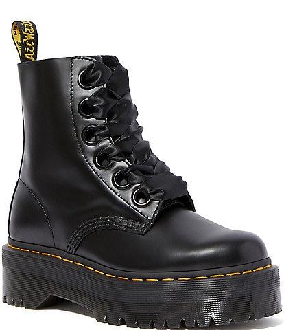 Dr. Martens Women's Molly Platform Combat Boots