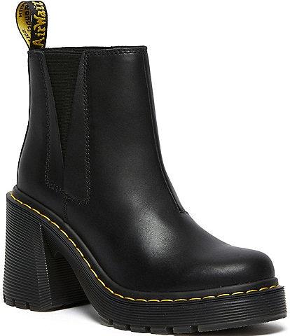 Dr. Martens Women's Spence Sendel Leather Chelsea Block Heel Booties