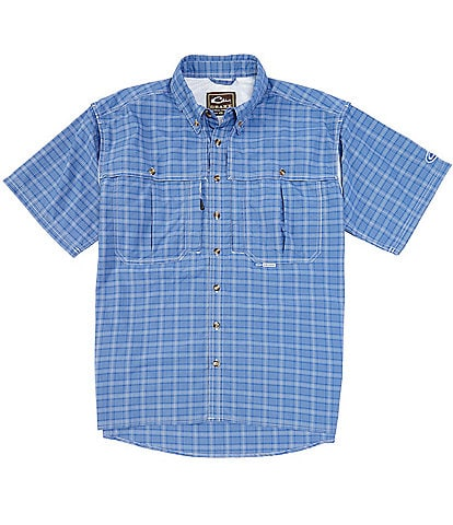 Drake Wingshooter's Plaid Short-Sleeve Woven Sun Shirt
