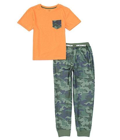 Dream Life Big Boys 8-16 Camo 2-Piece Pajamas Set