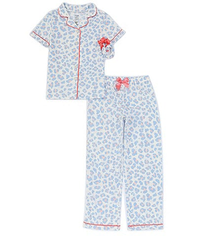 Dream Life Big Girls 7-16 Cheetah Print 2-Piece Pajamas Set