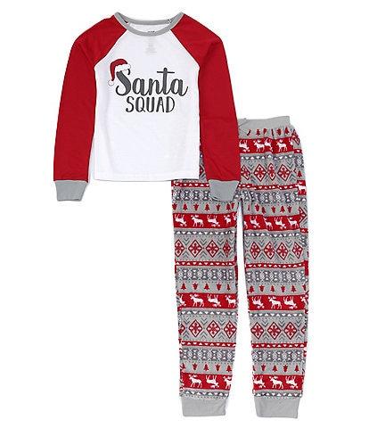 Dream Life Big Girls 7-16 Family Matching Santa Squad Fairisle 2-Piece Pajamas Set