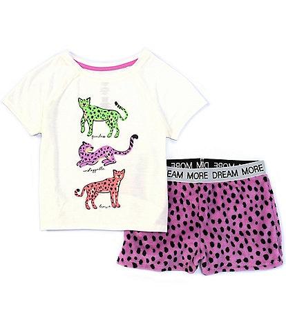 Dream Life Big Girls 7-16 Fearless, Unstoppable, Brave Cheetah 2-Piece Pajamas Set