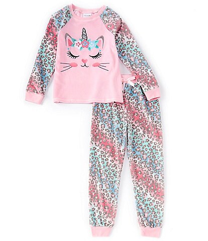Dream Life Little/Big Girls 2T-14 Caticorn Two-Piece Pajama Set