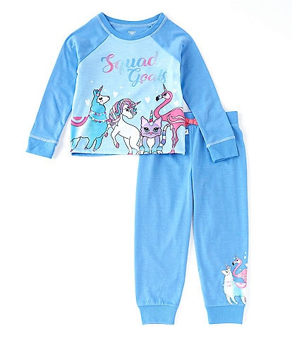 Dream Life Little Girls 2T-6X Unicorn Squad 2-Piece Pajamas Set