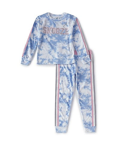 Dream Life Girls Little/Big Girls 2T-14 Snooze Velour Tie-Dye 2-Piece Pajamas Set