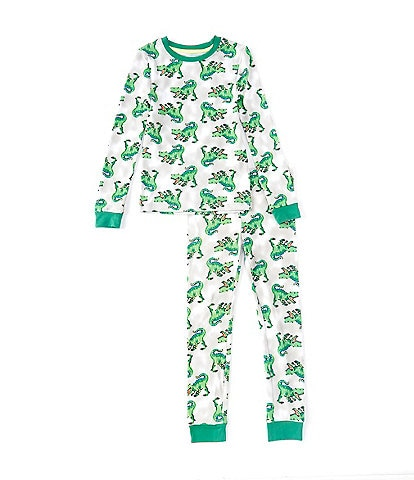 Dream Life Little Boys 2-7 Dinosaur-Printed 2-Piece Pajama Set