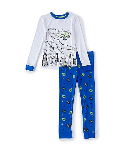 Dream Life Little Boys 2-7 T-Rex Dinosaur Two-Piece Pajama Set