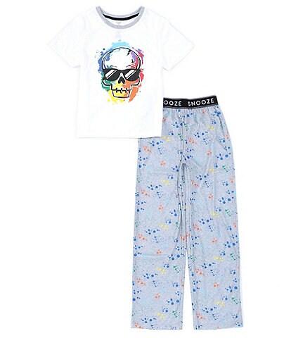 Dream Life Little/Big Boys 2-16 Cool Skull 2-Piece Pajamas Set