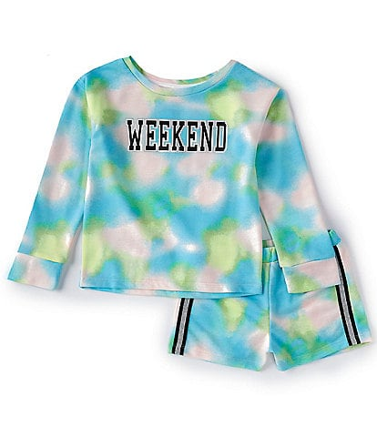 Dream Life Little/Big Girls 2T-14 Weekend Tie-Dye 2-Piece Pajamas Set