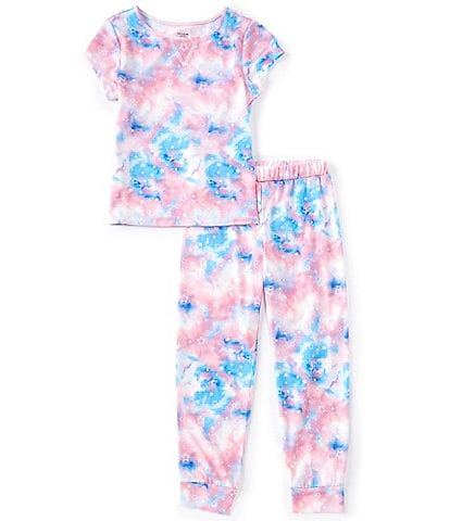 Dream Life Little/Big Girls 2T-16 Galaxy Stars 2-Piece Pajamas Set